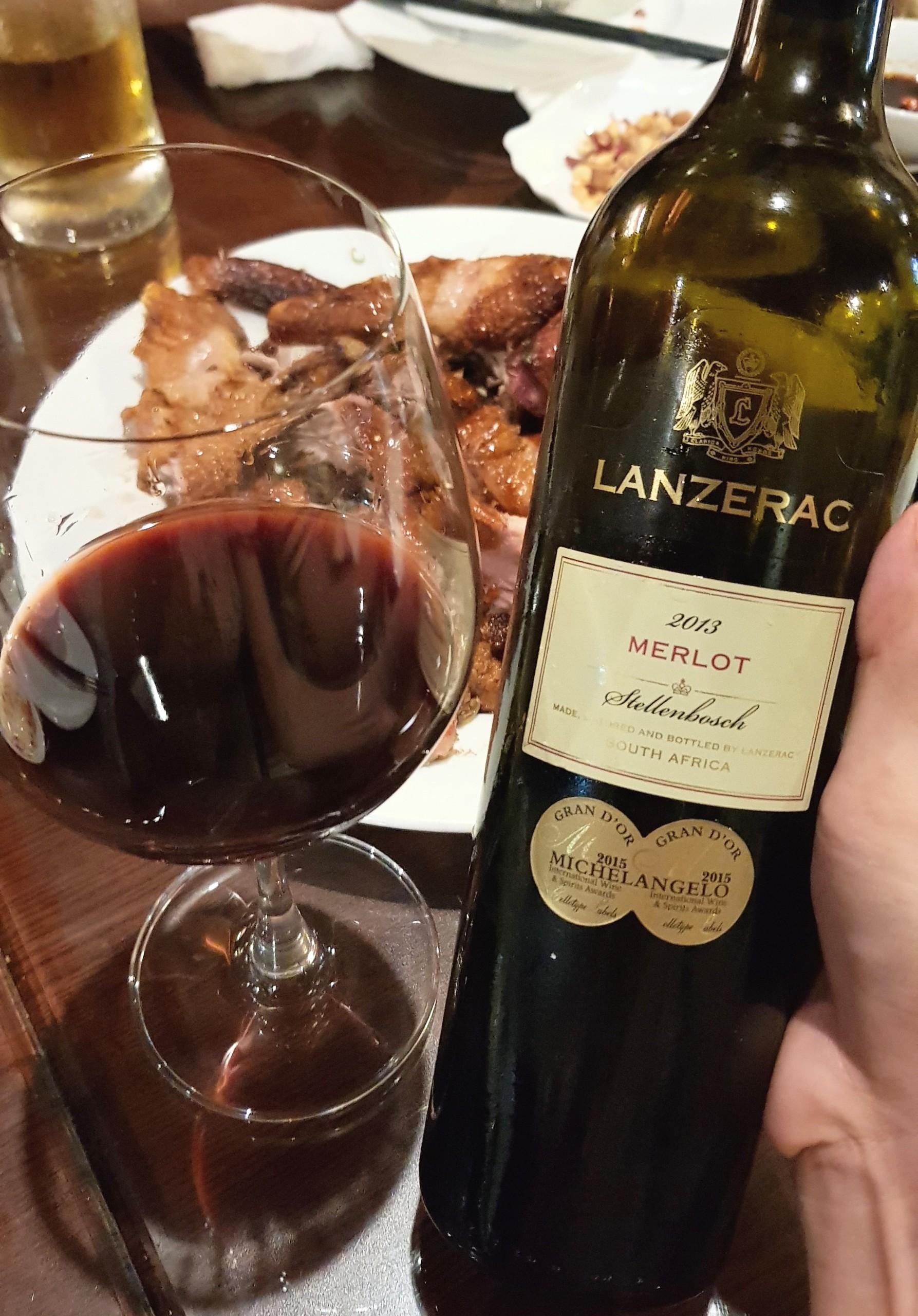 Rượu Vang Nam phi Lanzerac Merlot Stellenbosch