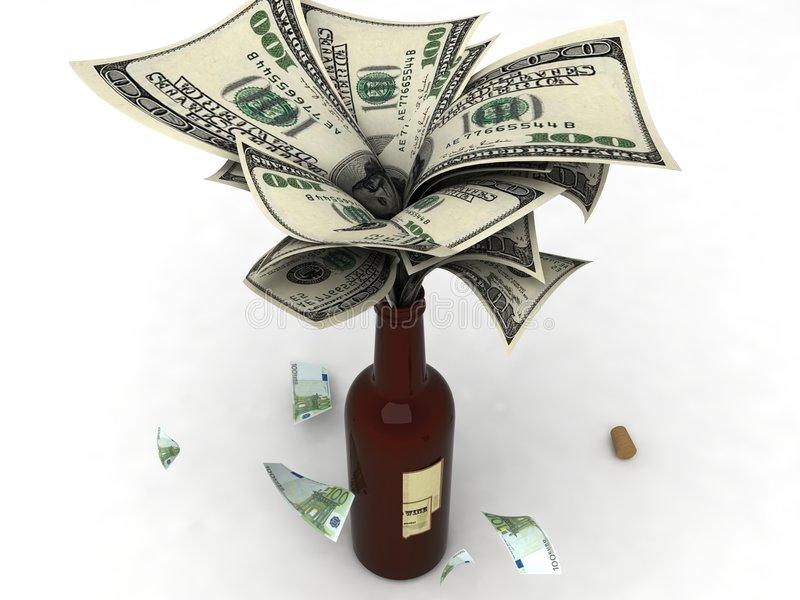 money wine bottle 7053415