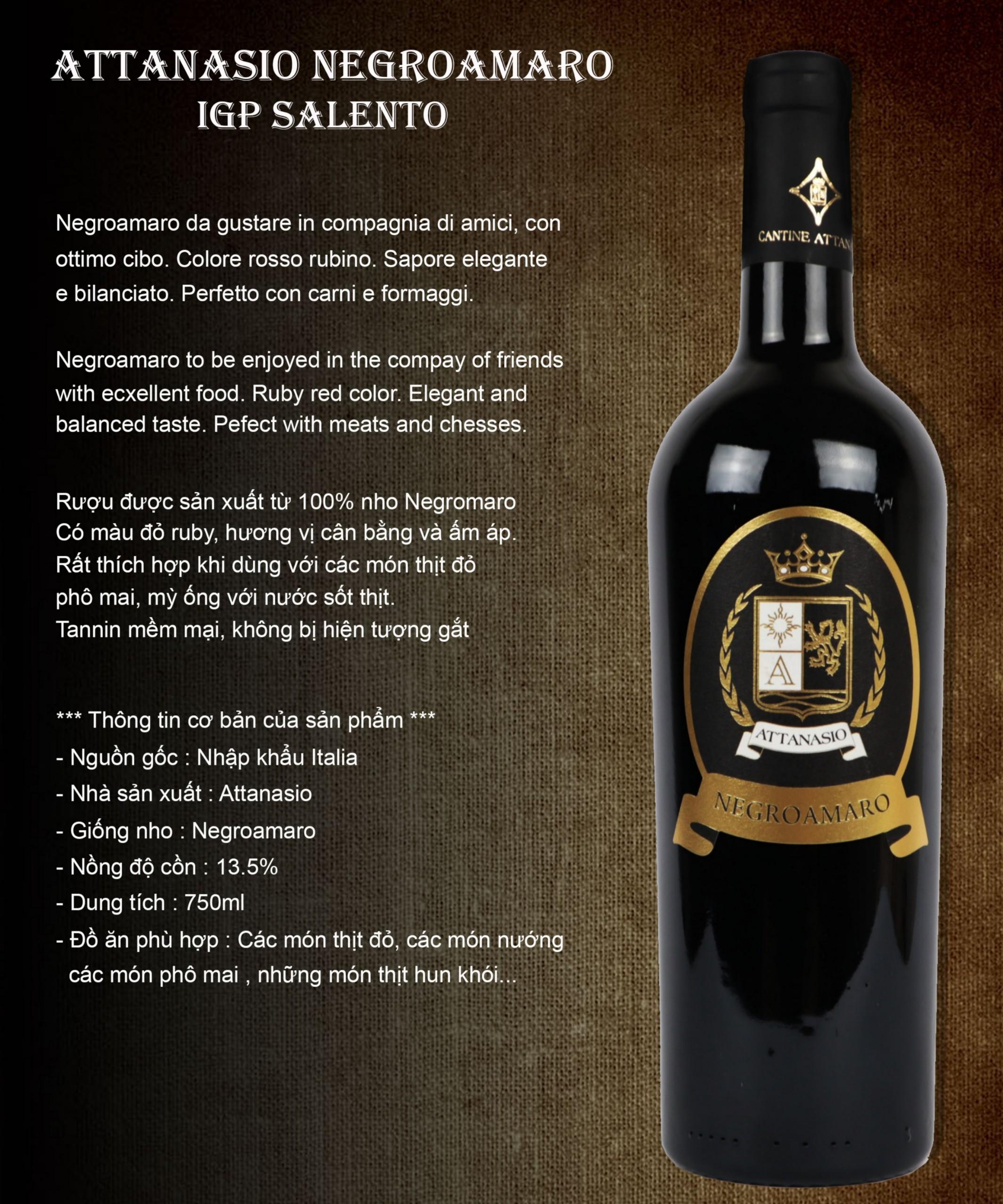 Rượu Vang Attanasio Neroamaro
